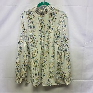 Disney mad hatter floral design blouse